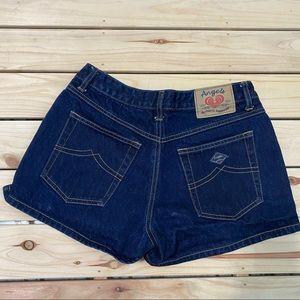 🔥 Angels Dark Wash Denim Shorts